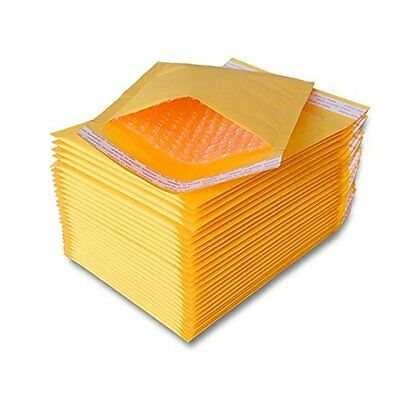 50 pcs Padded Kraft Bubble Envelopes Mailers bags 7.25x12 (Inner 7.25x11)