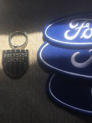 Ford Boss 302 LE Keytag And Ford Racing Patches
