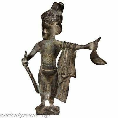 Museum Quality Near Eastern Bronze Male Statue Circa 300-700 Ad