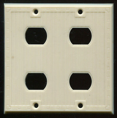 Vintage Uniline Small Recepticle Outlet or Switch 4 Gang Wall Plate Cover