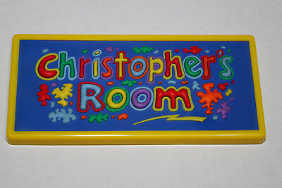 CHRISTOPHER'S ROOM vibrant door or wall sign-hang or stick