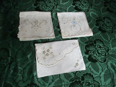 Vintage Handkerchiefs Cases-Madeira Hand Embroidery