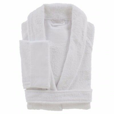 FRETTE XL Shawl Collar White Terry Bathrobe - Makes a GREAT holiday gift!