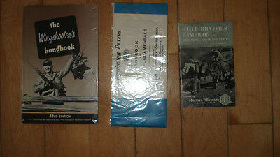3 vintage hunting shooting booklets The Wingshooter's Handbook and 2 others.