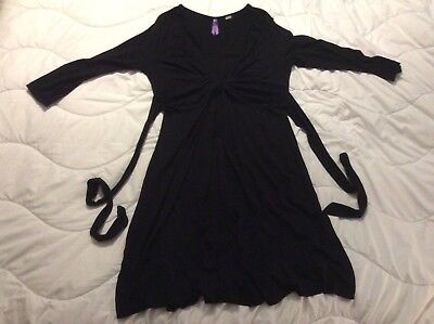 Seraphine Black Knot Front Maternity Dress Size 12