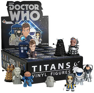 """DOCTOR WHO - 3"""" Series 2 Blind Box Titans Vinyl Figurines Display (20ct) #NEW"""