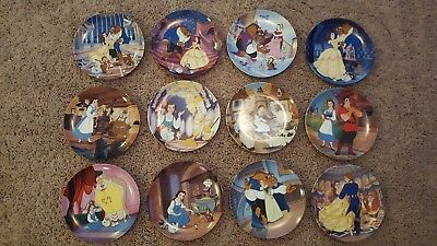 Complete 12 piece set of Disney's BEAUTY AND THE BEAST collector plates