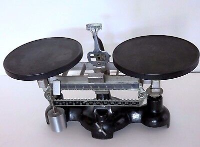 Vintage Antique Milvay Double Beam Trip Scale
