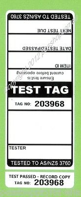 250 x BLACK Premium Electrical Adhesive Test Tag Labels
