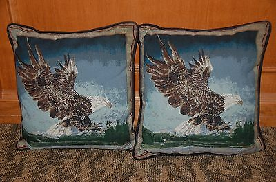 Wildlife Animals Tapestry Eagle Pillows Set Of 2
