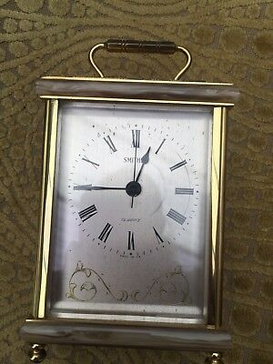 Smiths Vintage Carriage Clock Quartz Battery Operated Working Order Mantle Time
