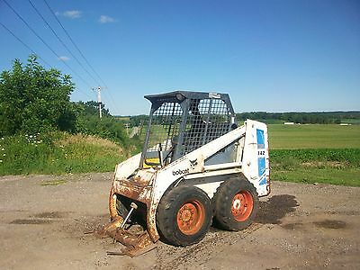 Bobcat 742 Skid Loader Skidsteer NO RESERVE wheel tractor farmall deere allis a