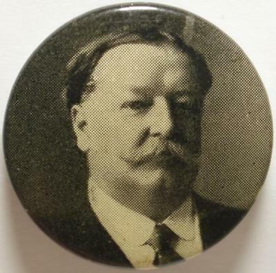 1908-12 ELECTIONS Original TAFT Political BUTTON, Only CHIEF JUSTICE & PRESIDENT