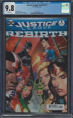 Justice League: Rebirth #1__CGC 9.8__Tony Daniel cover
