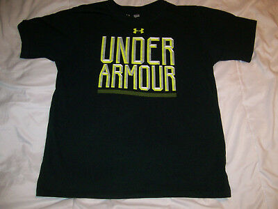 Boys youth black Under Armour  t-shirt size YLG