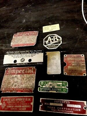 Rare Vintage Sign Tag Plaque Lot GE Crouse Hinds SteamPunk