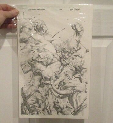 JOHN CARTER Warlord of Mars #2 Original Comic Book Cover Art SUAYAN Marvel