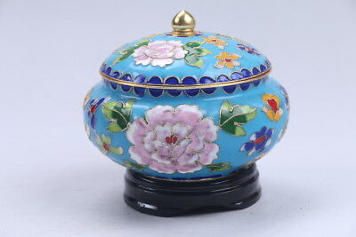 Collection Exquisite Chinese Cloisonne handwork flower pot  AA904