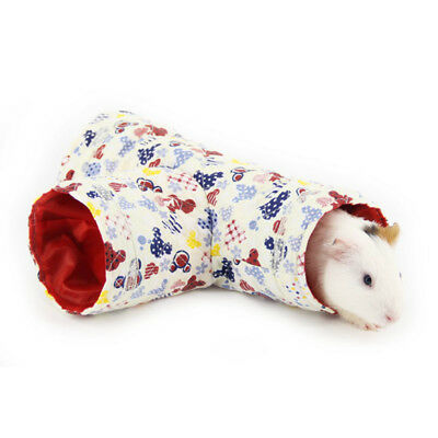 Small Animal Tunnel 3Ways Hamster Rabbit Hedgehog Exercise Toy Bed Nest House