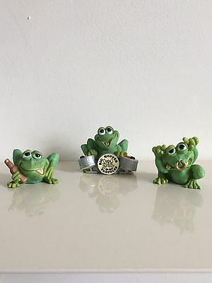 Sprogz Frog Collectible Figurines No Original Boxes Lot Of 3