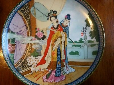 New Chinese Imperial Jingdezhen Porcelain Plate 1986 Beauties of the Red Mansion