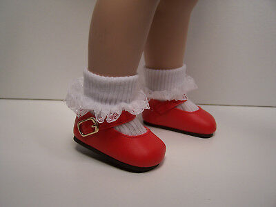 """Debs LT PINK Satin Ribbon Side Bow Doll Shoes For 12/"""" Marley Wentworth"""