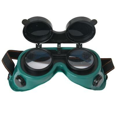 Safety Solder Welding Cutting Grinding Goggles Flip Up Len Eye Glasses Green