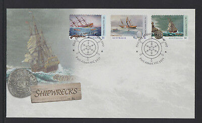 Australia 2017 : Shipwrecks - First Day Cover with Self-adhesive Stamps