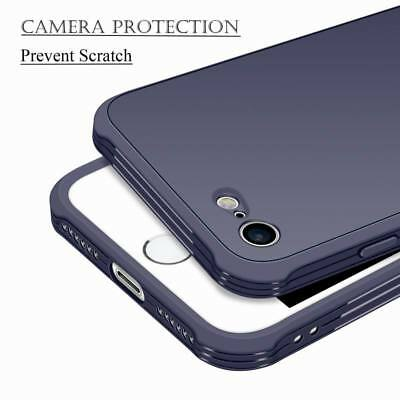 For iPhone 8 6 7 Plus Shockproof Soft Gel TPU Rubber Matte Slim Armor Case Cover