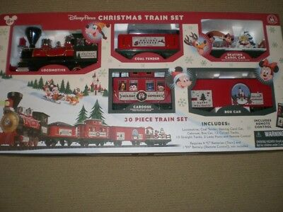 NEW! Disney Parks 2016 Christmas Train Set 30 Pc Mickey & Friends + Remote PICS