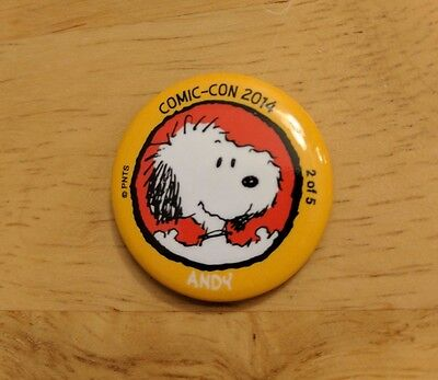 SDCC 2014 San Diego Comic-Con PEANUTS ANDY Pin/Button of the Day