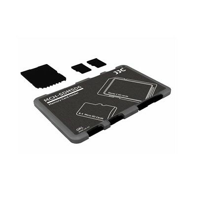 JJC Ultra-Slim Credit Card Size Memory Card Holder Storage for 2x SD 4x Micro SD