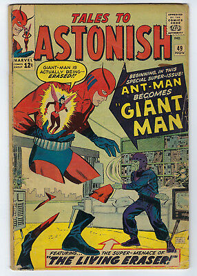 Marvel TALES TO ASTONISH # 49 Published NOV 1963, GD+  ANT-MAN BECOMES GIANT-MAN