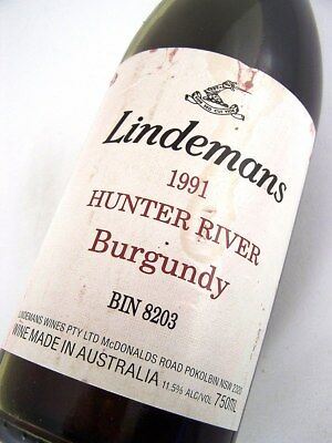 1991 LINDEMANS Bin 8203 Hunter River Burgundy Shiraz Isle of Wine