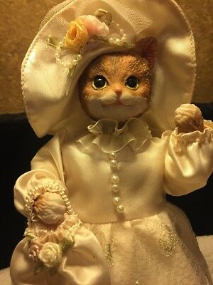 """Gift Collection Cat Victorian Collectible Cat By Avon 11"""" Catperson Doll Statue"""