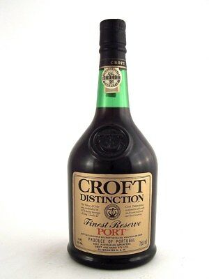 1988 circa NV CROFT Distinction Finest Reserve Port Isle of Wine