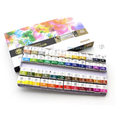 Mungyo Professional Water Color Half Pan 48 Color Set - MWPH-48C