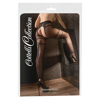 Cottelli Collection Stockings & Hosiery Strumpfhose ouvert S/M |60