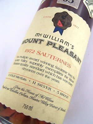 1972 McWILLIAMS Mount Pleasant Sauternes Semillon A Isle of Wine