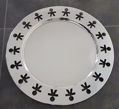 """Alessi """"Girotondo"""" serving tray 18/10 Stainless Steel mirror polished"""