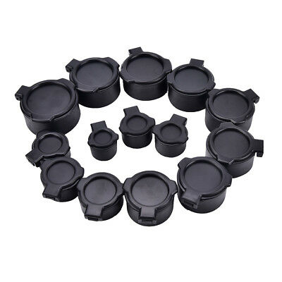 1X 25.4-57mm Rifle Scope Quick Flip Spring Up Open Lens Cover Cap for Caliber UK