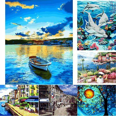 DIY Paint By Number Kit Digital Oil Painting Canvas Wall Home Decor No framed UK