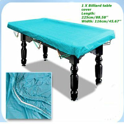 7Ft Lake Blue Rubber Waterproof Cover for Pool Snooker Billiard Table Billiard
