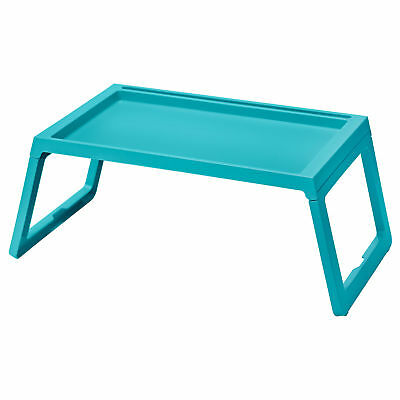IKEA KLIPSK Breakfast Food Serving Serve Bed Tray Table in Teal with iPad Holder