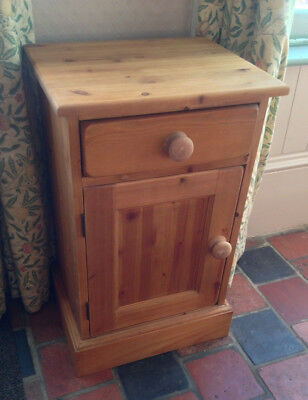 Antique Pine Small Bedside Kitchen Freestanding Cabinet Cuboard Solid Pine