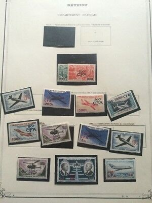 VENTE ÉTÉ 2# LOT 367: DOM-TOM collection timbres blocs années feuilles avion