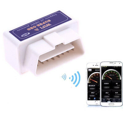 Super Mini ELM327 WiFi OBD2 Car Diagnostic Scanner For iPhone iOS Android White