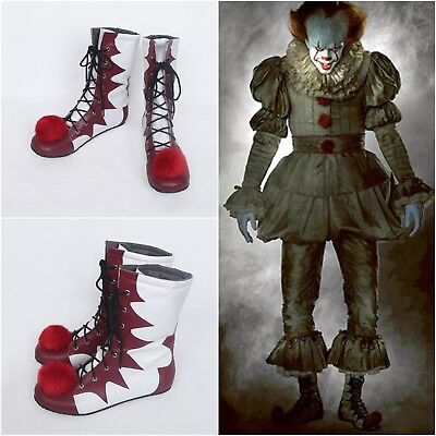Stephen King's It Pennywise Costume Halloween Xmas Cosplay Boots Shoes Footwear
