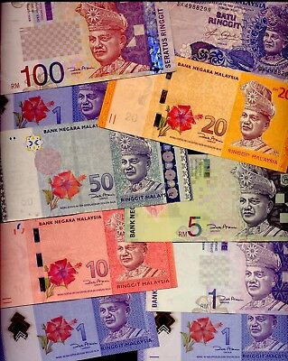 MALAYSIA: 10 B-NOTES: 100 to 1 RINGGIT  NO RESERVE