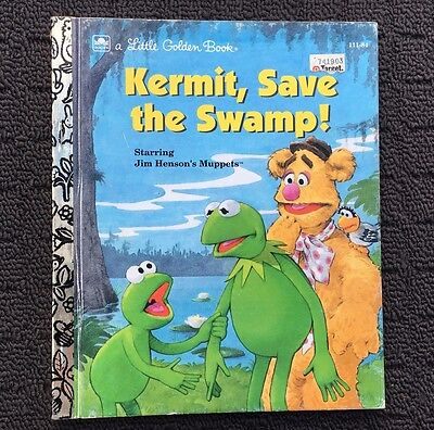 KERMIT, SAVE THE SWAMP! Children's Story Book (1992) A Little Golden Book